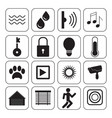 smart home icons technology conceptual system vector image vector image