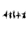 spanish girl flamenco dancer girl silhouette vector image vector image