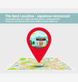 the best location japanese restaurant vector image vector image