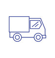 truck transportation vehicle isolated icon vector image vector image