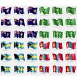 Turks and Caicos Saudi Arabia Bahamas Mongolia Set vector image vector image