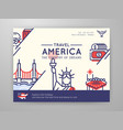united states of america travel graphic content vector image