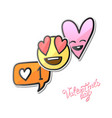 valentines day stickers love emoji icons vector image vector image