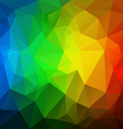 Vertical rainbow spectrum polygon triangular vector image