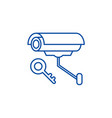 video alarm line icon concept video alarm flat vector image vector image