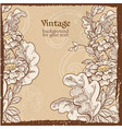 vintage grunge background with wild meadow flowers vector image vector image