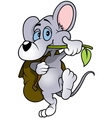 Walking Mouse vector image vector image