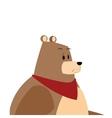 Bear cartoon comic cartoon icon vector image