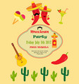invitation template for mexican party vector image