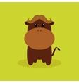 Cute Cartoon Buffalo vector image