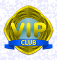 Vip club emblem vector image