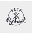 Back to school - labels stickers hand lettering vector image vector image