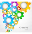 Background with gears vector image vector image