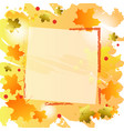 background with orange and golden maple leaves vector image vector image
