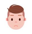 boy head emoji with facial emotions avatar vector image vector image