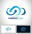 business cloud blue vector image