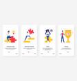 business idea profit growth puzzle golden award vector image vector image