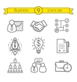 Business linear icons set vector image vector image
