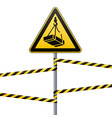 caution - danger may fall from the height of the vector image vector image