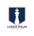 chess logo for club or school vector image vector image
