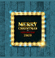 christmas and new year 2020 vector image vector image