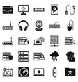 command line icons set simple style vector image