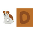 d is for dog letter c dog cute vector image vector image