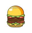 delicious hamburger fast food meal vector image