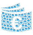 euro checkbook icon figure vector image vector image