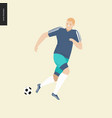 european football soccer player vector image
