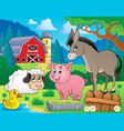 farm animals theme image 6 vector image vector image