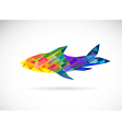 fish abstract vector image vector image