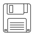 floppy disk icon data backup retro vector image