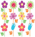 flowers pattern 2 vector image vector image