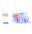 genetic testing concept landing page vector image vector image