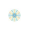 globe design logo template vector image vector image