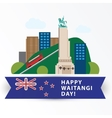 Happy Waitangi day 6 February New Zeland vector image vector image