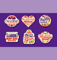 Holiday stickers collection new year masquerade