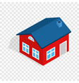 house with attic isometric icon vector image vector image