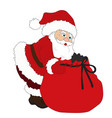 ilustration for christmas and new year santa vector image