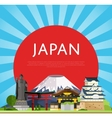 Japan travel concept with famous asian buildings vector image