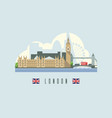 london city skyline capital england vector image