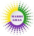 Mardi Gras halftone background vector image vector image