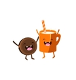 Milk And Cookie Cartoon Friends vector image vector image