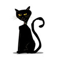 mystical halloween black cat vector image