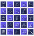 Network flat web icons vector image vector image