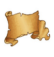 old rolled parchment vector image vector image