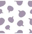 Pattern Silhouette Garlic vector image vector image