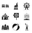 performance for children icons set simple style vector image