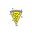 pizza icon design vector image